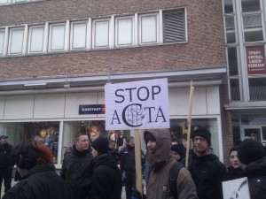 Stop ACTA mit Friedenstaube